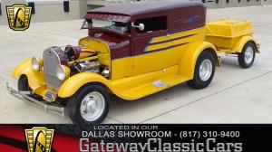 1928 Ford Model A with Trailer